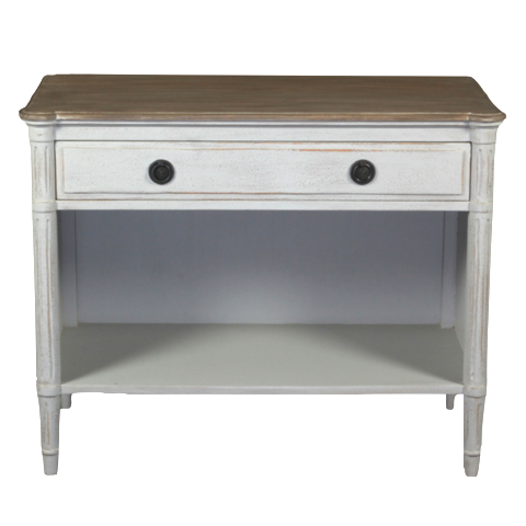Bellarine Console Antique White + Ash