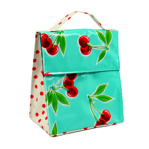 Insulated Lunchbag Mint Cherries