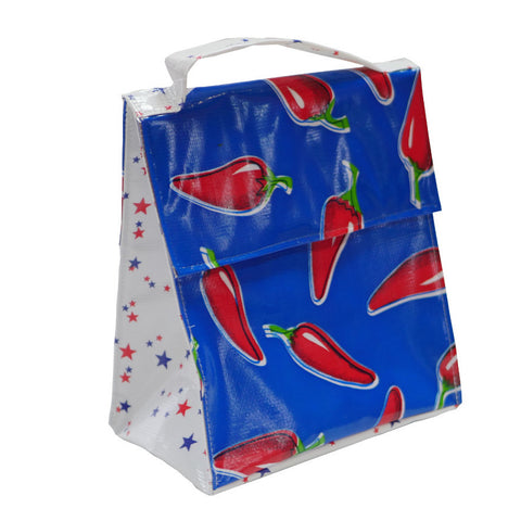 Insulated Lunchbag Chilli Red Blue