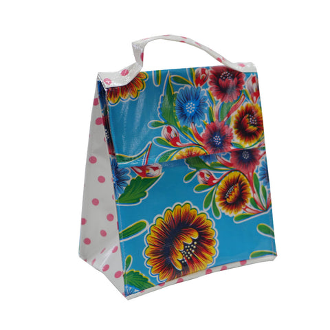 Insulated Lunchbag Sweet Flower Pale Blue