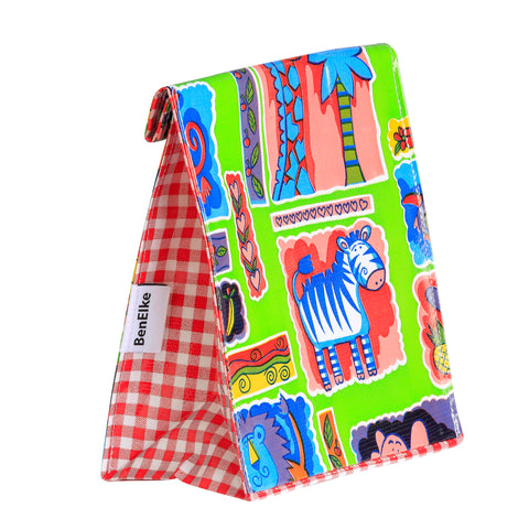 Oilcloth Lunchbag in Red Safari