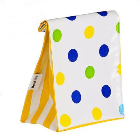 Oilcloth Lunchbag in Confetti Blue