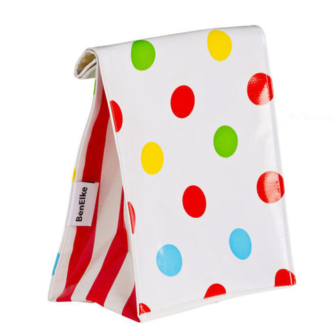 Oilcloth Lunchbag in Confetti Red