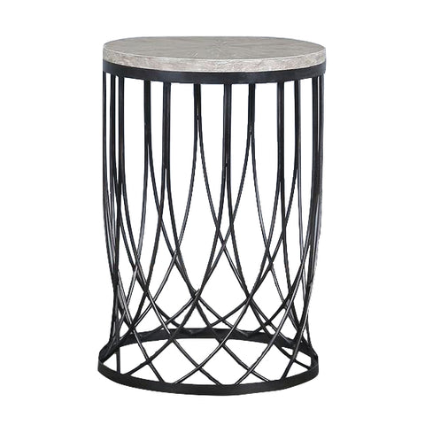 Gilbert Round Iron Lace Side Table