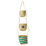 Hanging Storage Baskets with Star and Stripes