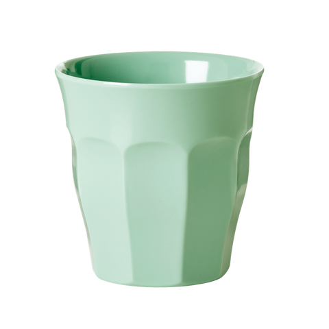 Solid Coloured Medium Melamine Cup in Khaki