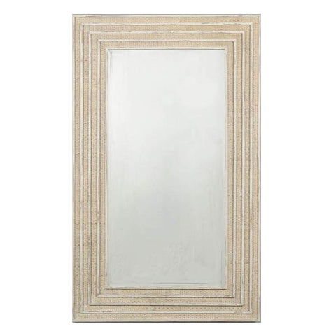 Viognier Rectangle Mirror in Vintage Cream