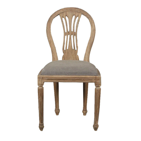 Montmarte Dining Chair Stone Wash Grey Upholstery
