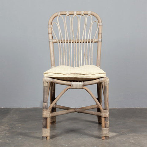 Abaca Dining Chair Natural Raffia Cushion