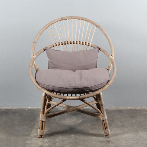 Round Abaca Cane Chair Natural PRE ORDER JANUARY 2020