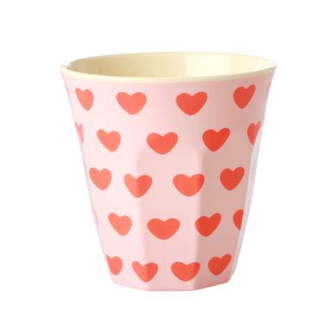 Melamine Cup with Sweet Heart Print - Medium