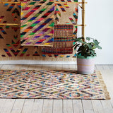 XL Cotton with Interwoven Gold Fabric Rug