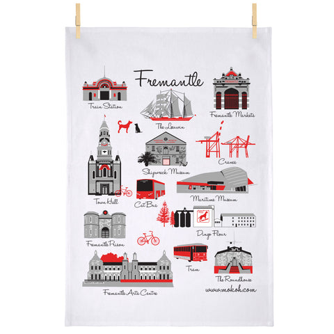 Fremantle Iconic Tea Towel