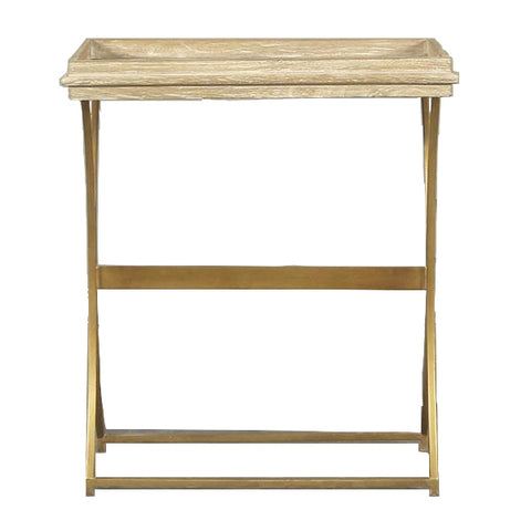 Alma Rectangle Side Table Washed Timber