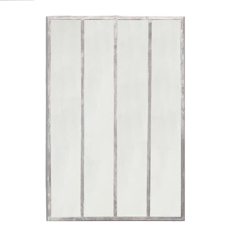 Henry Mirror in White Washed Acier