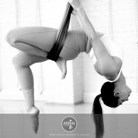 Aerial Yoga Class with Sharon