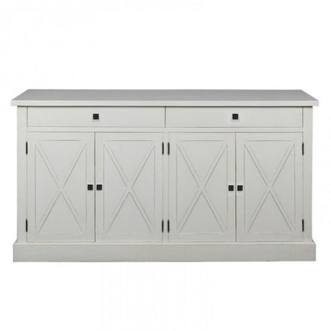 Frejac Buffet Antique White Flat Top