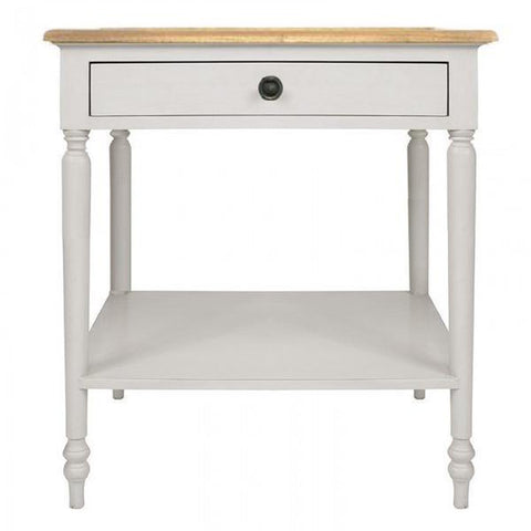 Monash Bedside Antique White + Ash