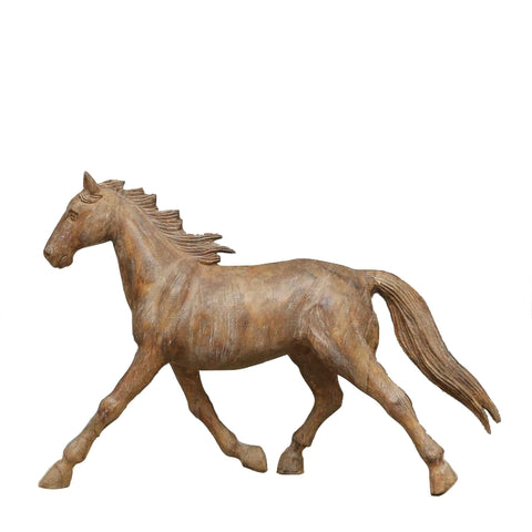 Carved Horse Sculpture