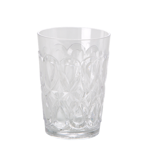 Swirly Embossed Tumbler Acrylic Clear