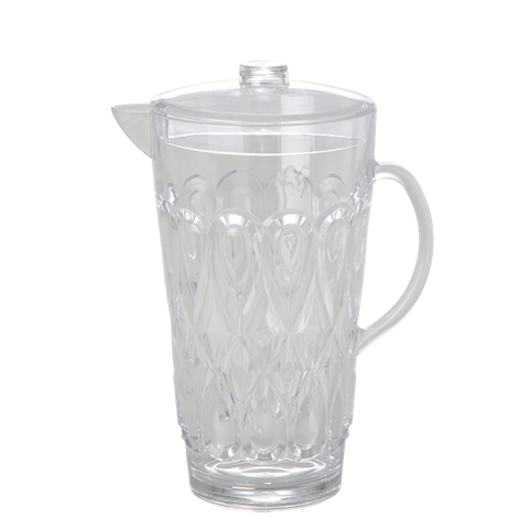 Large Swirly Embossed Jug Acrylic Clear