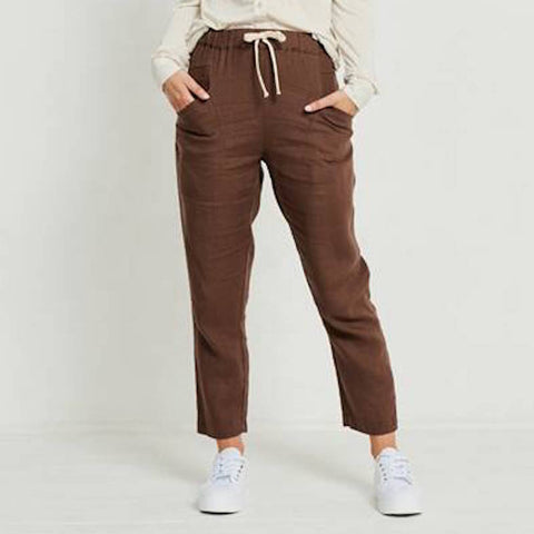 Luxe Linen Pants Chocolate