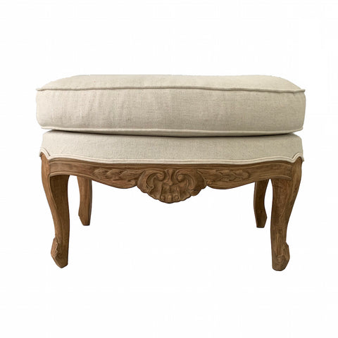 Belladonia Stool Natural & Ecru Linen