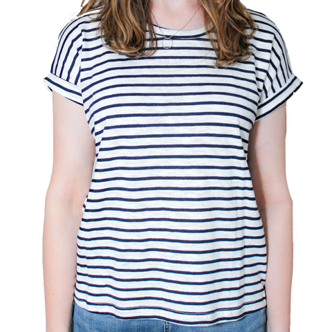Navy Striped Oscar Tee
