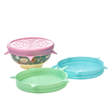 Silicone Lid for Medium Melamine Bowl in 3 Assorted Colours