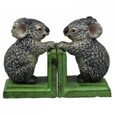 Cast Iron Koala Bookends