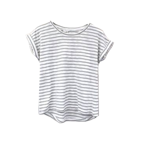 Sage Striped Oscar Tee
