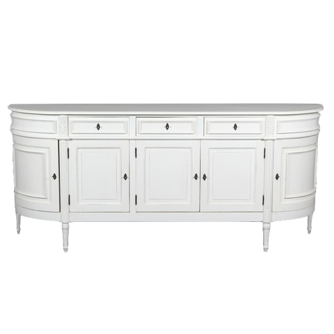 Louis XVI Sideboard Antique White PRE ORDER NOVEMBER 2019