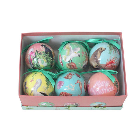 Bauble Set of 6 Coastal Abode