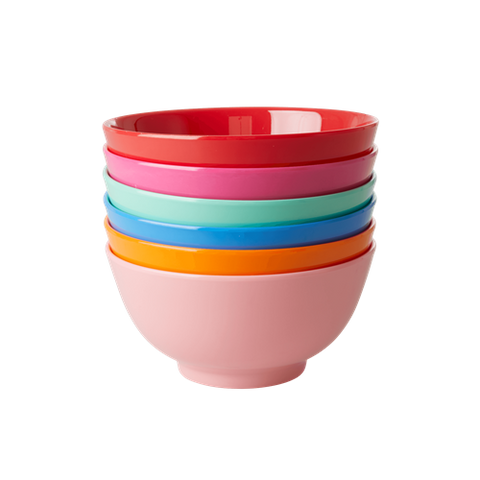 Melamine Bowl in 6 Asst. 'Choose Happy' Colors - Single - Medium