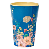 Tall Melamine Cup with Flower Collage Print