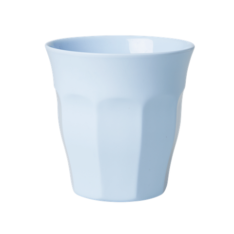 Solid Coloured Medium Melamine Cup Soft Blue