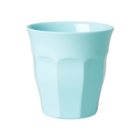 Solid Coloured Medium Melamine Cup in Dark Mint