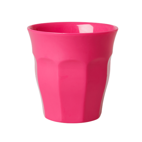 Solid Coloured Medium Melamine Cup Fuchsia