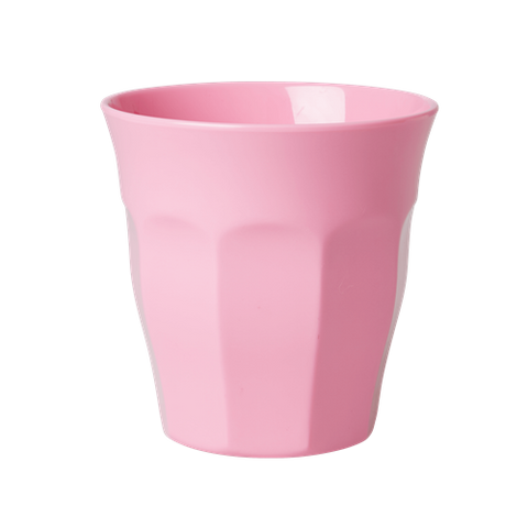 Solid Coloured Medium Melamine Cup Dark Pink