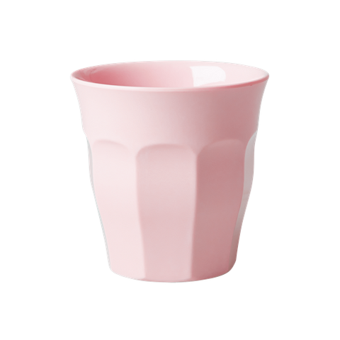 Solid Coloured Medium Melamine Cup Soft Pink