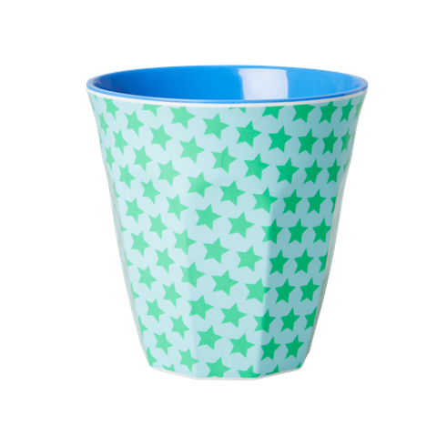 Medium Melamine Cup Two Tone Star Print
