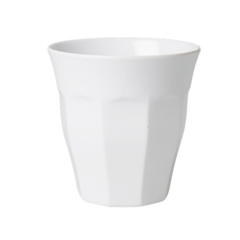 Solid Coloured Medium Melamine Cup White