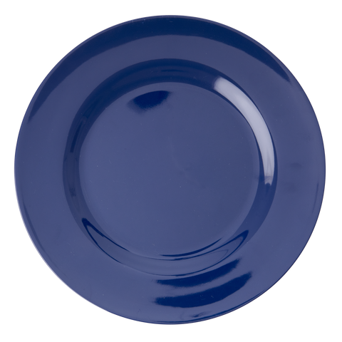 Melamine Round Dinner Plate in Navy Blue