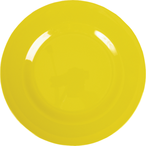 Melamine Round Dinner Plate in Yellow