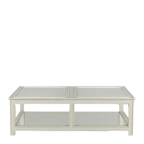 Leonardo Mirrored Coffee Table in French Grey