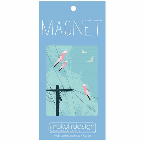 Galahs On The Line Magnet