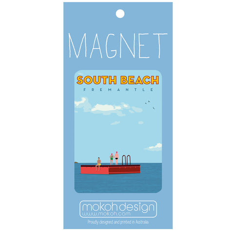 South Beach Pontoon Magnet