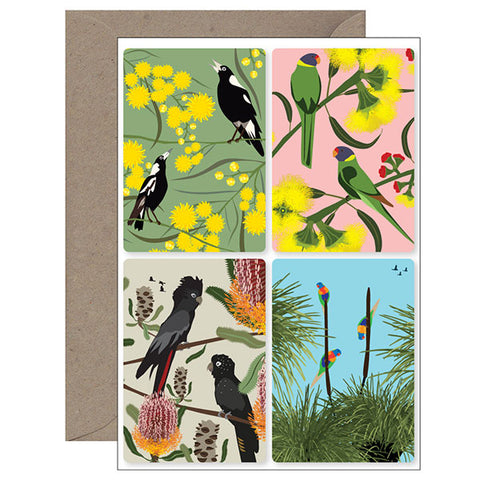 Bush Bird Magnet Card
