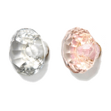 Medium Faceted Glass Drawer Knob Pink