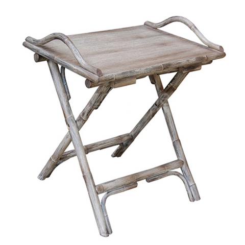 Orient Bay Folding Tray Table Old Grey